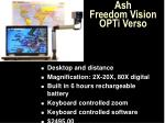 ash freedom vision opti verso