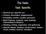 the tasks task specific