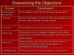 overcoming the objections