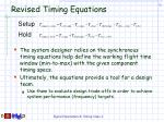 revised timing equations26