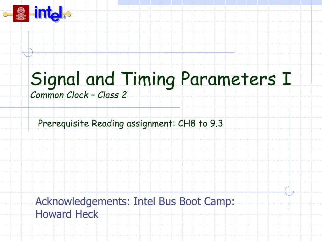 signal and timing parameters i common clock class 2 l.