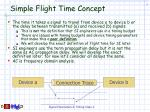 simple flight time concept