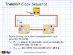 transmit clock sequence