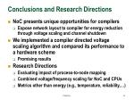 conclusions and research directions