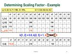 determining scaling factor example41