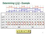 determining t i j example34