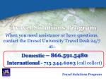 travel solutions program