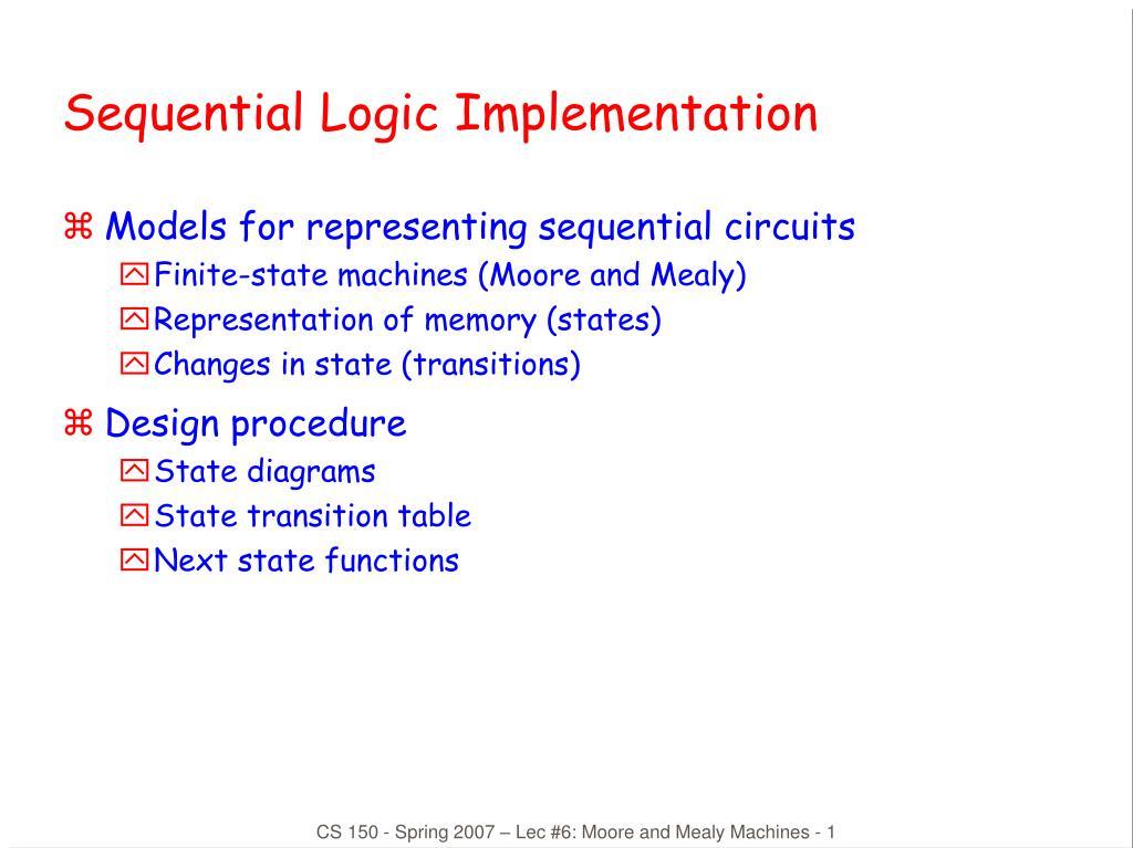 sequential logic implementation l.