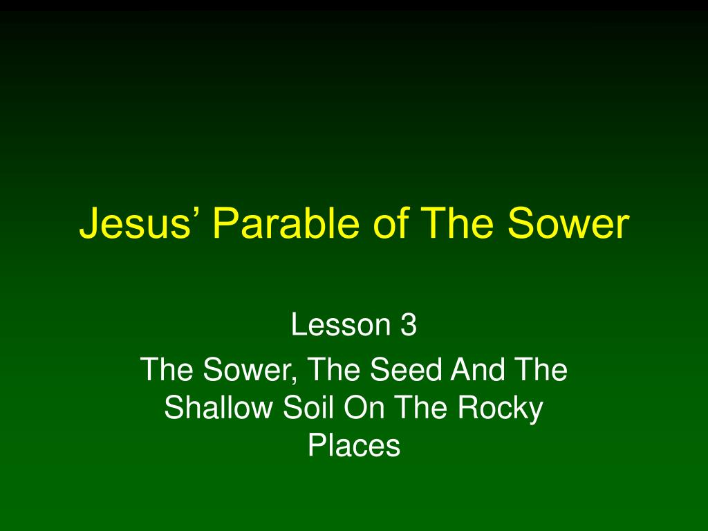 jesus parable of the sower l.