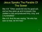 jesus speaks the parable of the sower7
