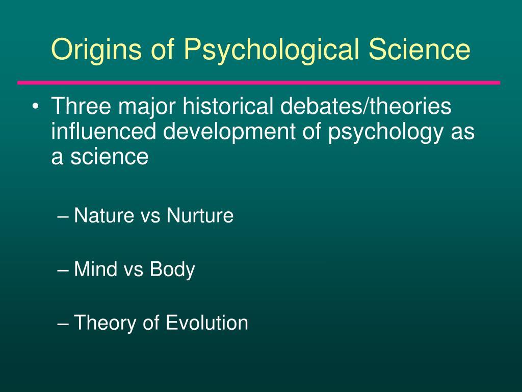 Origins of Psychological Science