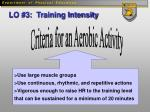 lo 3 training intensity