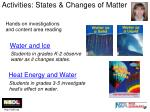 activities states changes of matter
