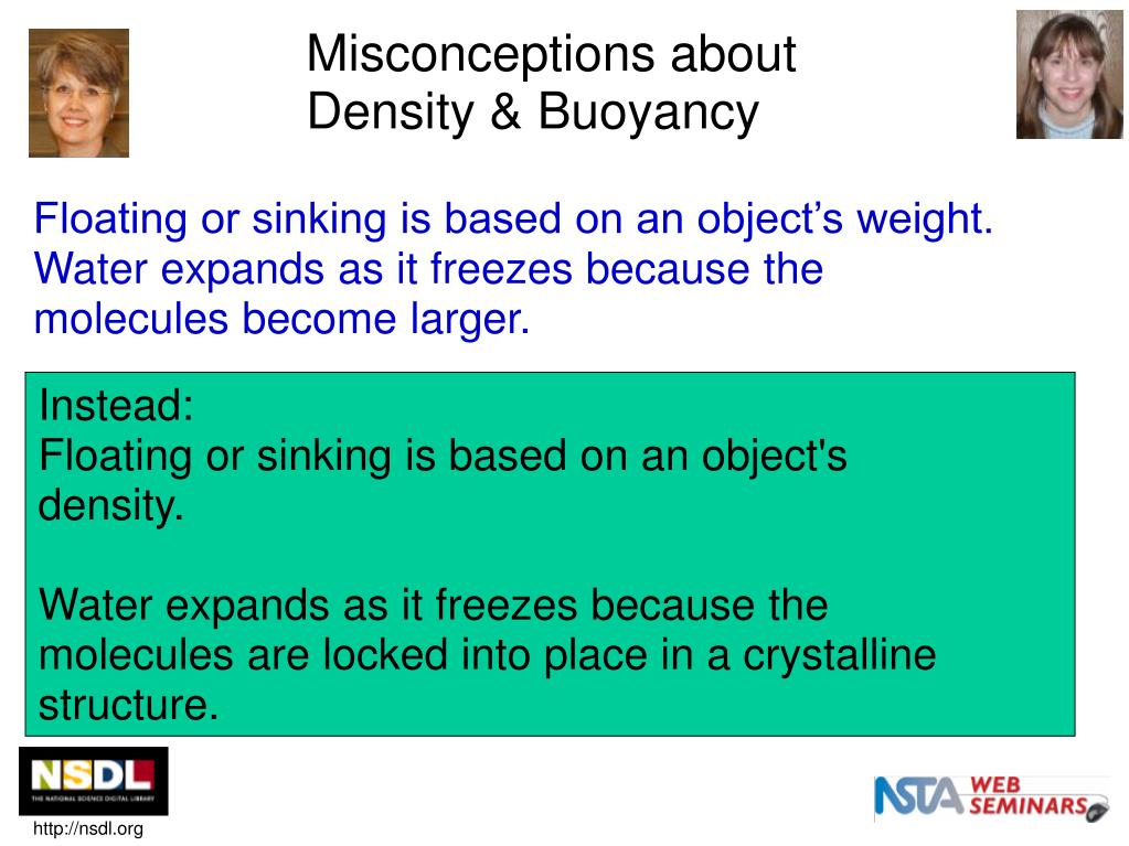Floating or sinking is based on an object's weight.