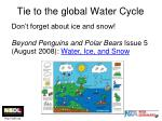 tie to the global water cycle