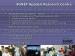 sonet applied research centre