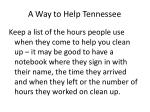 a way to help tennessee