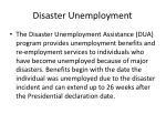 disaster unemployment