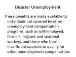 disaster unemployment36