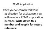 fema application