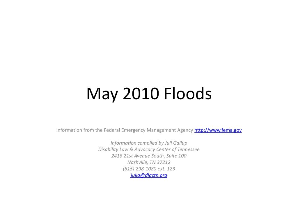 may 2010 floods l.