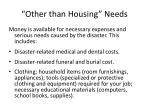 other than housing needs