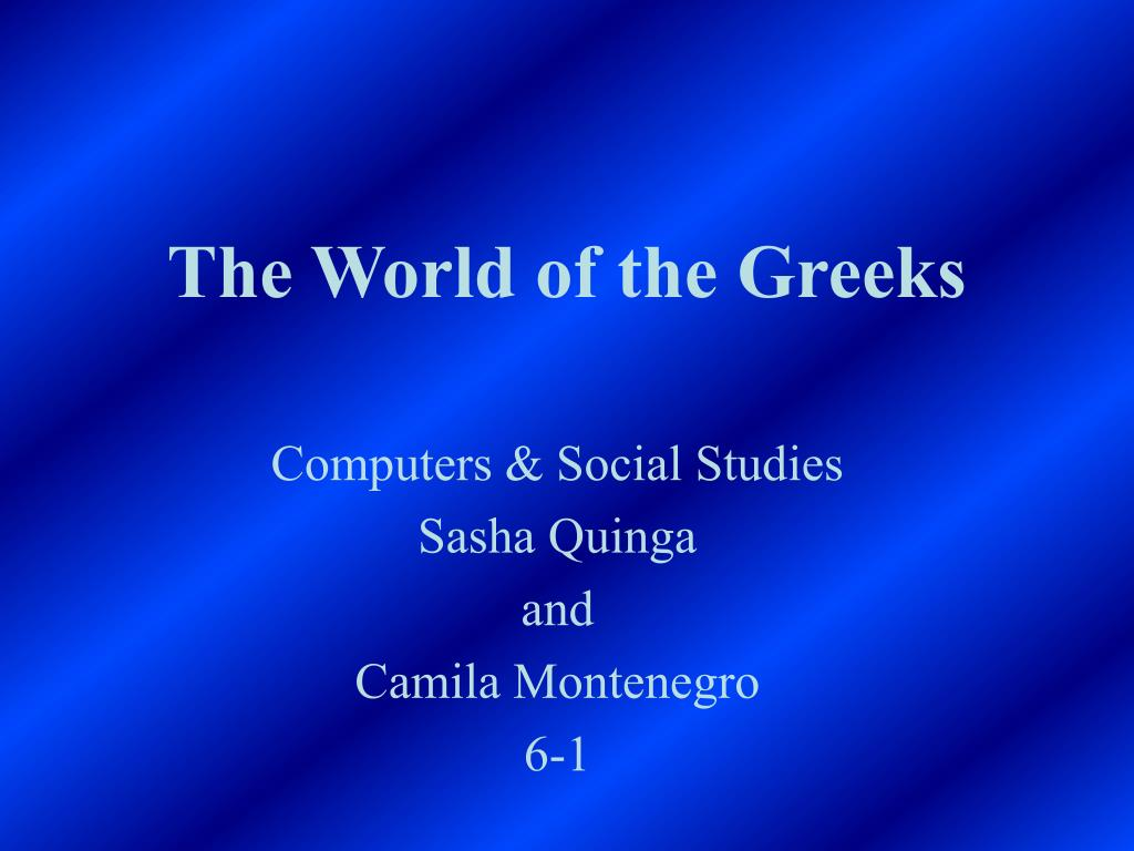 the world of the greeks l.