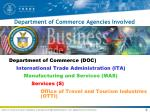 department of commerce agencies involved