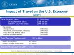 impact of travel on the u s economy 2009