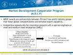 market development cooperator program m d c p