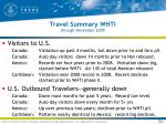 travel summary whti through november 2009