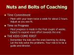 nuts and bolts of coaching