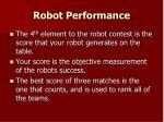 robot performance