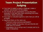team project presentation judging