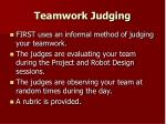 teamwork judging