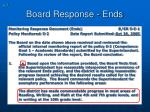 board response ends