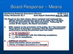board response means