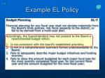 example el policy