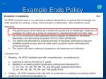 example ends policy