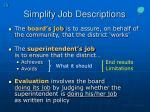 simplify job descriptions