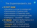 the superintendent s job