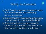writing the evaluation