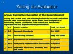 writing the evaluation73