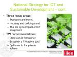 national strategy for ict and sustainable development cont