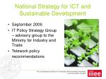 national strategy for ict and sustainable development