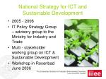 national strategy for ict and sustainable development12