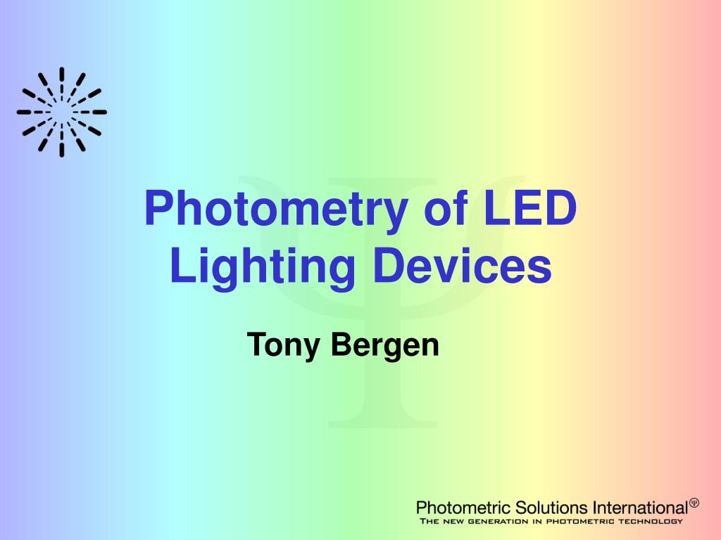 photometry of led lighting devices l.