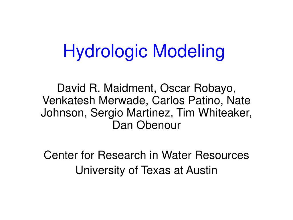 hydrologic modeling l.