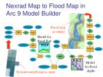 nexrad map to flood map in arc 9 model builder