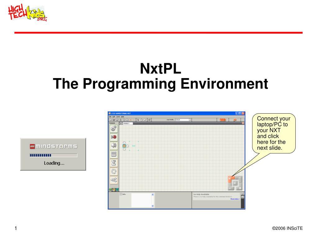 nxtpl the programming environment l.